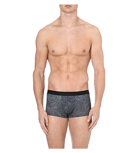 HOM Lace print hipster trunks (Grey