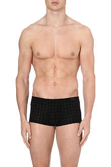 HOM Flocked print hipster trunks