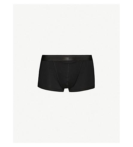 HOM H01 Maxi slim-fit stretch-cotton trunks (Black