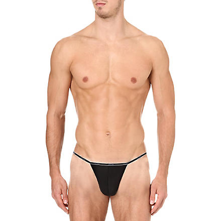 HOM Plume string briefs (Black