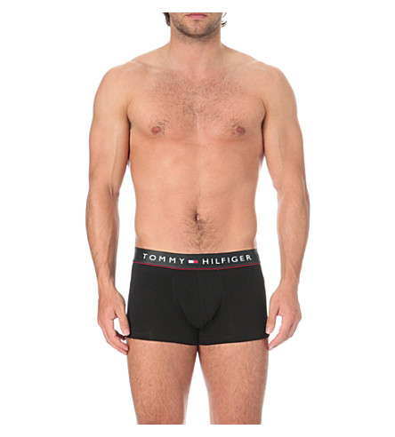 TOMMY HILFIGER Flex cotton low-rise trunks (Black