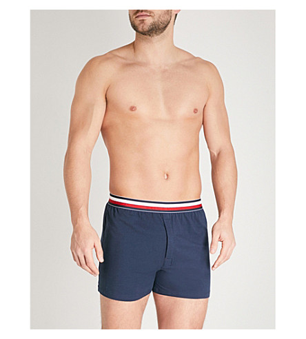 TOMMY HILFIGER Global modern-fit stretch-cotton boxer briefs (Nvy