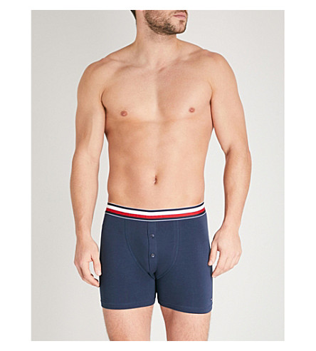 TOMMY HILFIGER Global regular-fit stretch-cotton boxer briefs (Nvy
