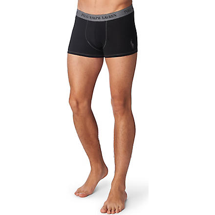 RALPH LAUREN Polo player trunks (Black