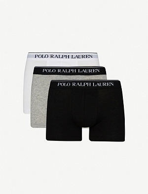 RALPH LAUREN Three pack logo–waistband trunks