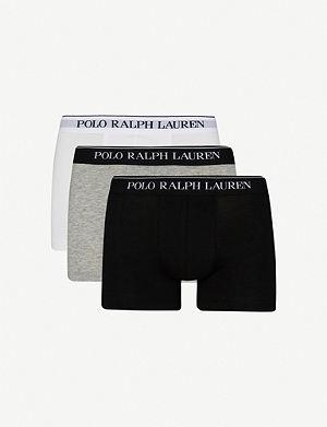 RALPH LAUREN Three pack logo–waistband trunks
