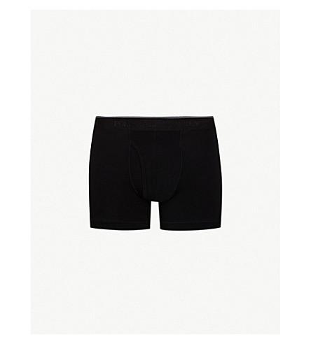 POLO RALPH LAUREN Regular-fit stretch-cotton trunks (Black