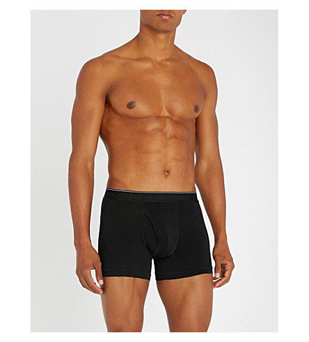 POLO RALPH LAUREN Stretch-cotton trunks (Black
