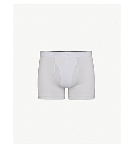 POLO RALPH LAUREN Classic-fit stretch-cotton trunks (White