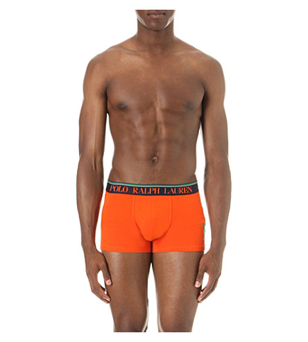 POLO RALPH LAUREN Candy Shop stretch-cotton trunks (Basketball+orange