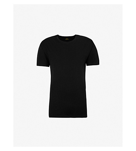 POLO RALPH LAUREN Two pack cotton round-neck t–shirts (Black