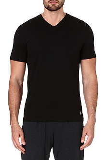 RALPH LAUREN Pack of two v-neck ribbed cotton t-shirts