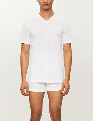 RALPH LAUREN Ribbed v-neck t-shirt