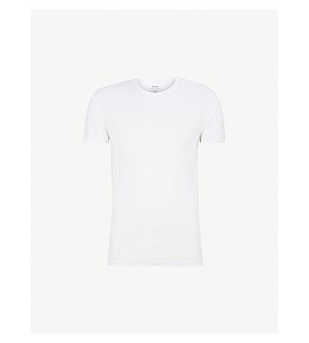POLO RALPH LAUREN 两包棉船员颈部 t恤衫 (白色