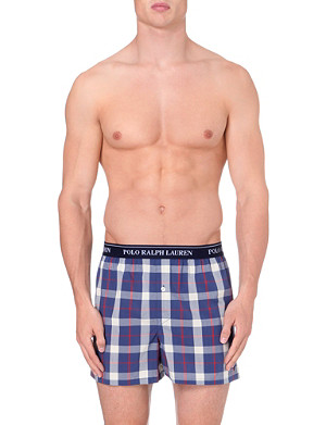 RALPH LAUREN Checked woven boxer shorts