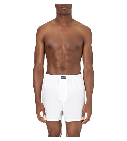 POLO RALPH LAUREN Classic cotton boxer shorts (White
