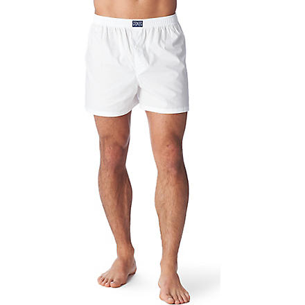 RALPH LAUREN Pinpoint Oxford boxers (White