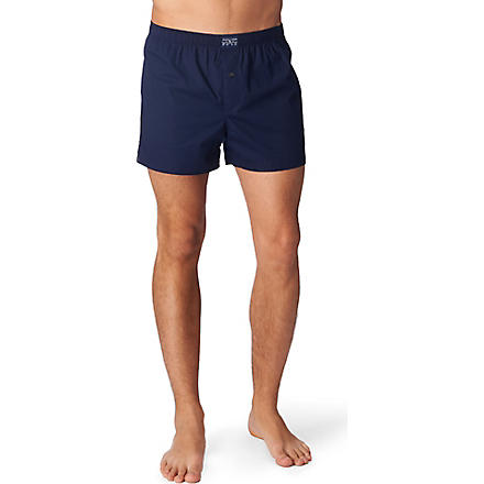 RALPH LAUREN Logo–embroidered stretch boxers (Navy