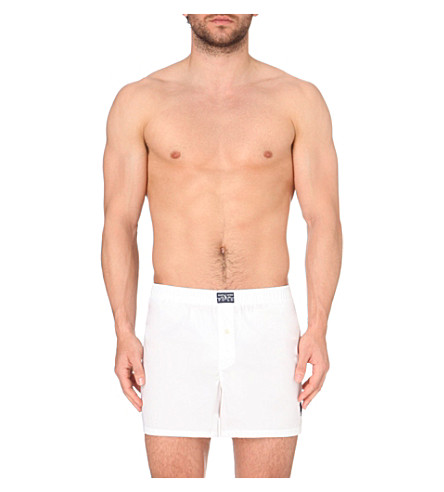 RALPH LAUREN Logo–embroidered stretch boxers (White