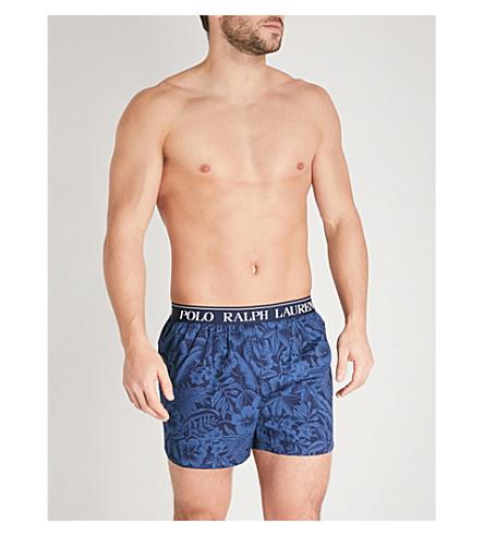 POLO RALPH LAUREN Tropical-print slim-fit stretch-cotton boxers (Blues