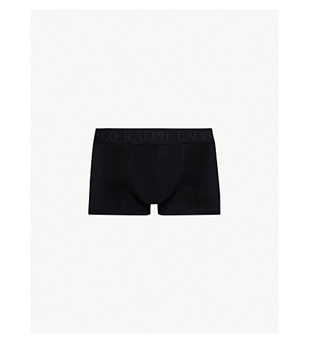 POLO RALPH LAUREN Solid classic-fit stretch-modal trunks (Black