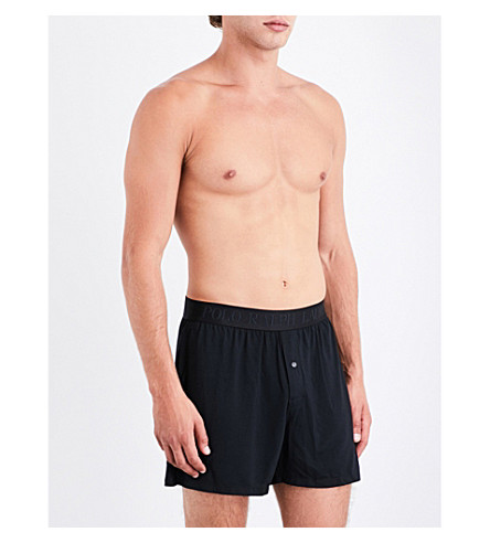 POLO RALPH LAUREN Solid slim-fit stretch-modal boxers (Black