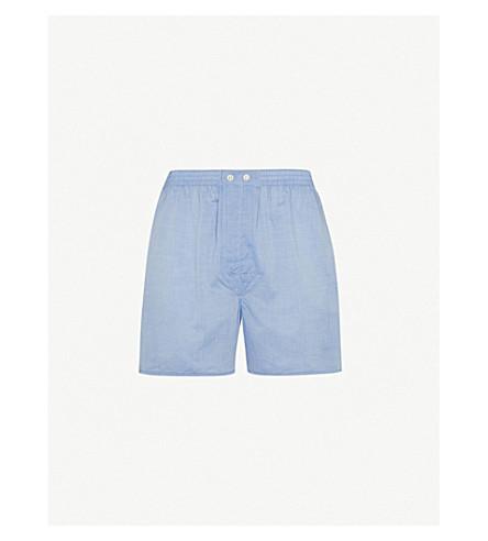 DEREK ROSE 阿马尔菲巴蒂斯特休闲版型棉编织的拳击手短裤 (蓝色