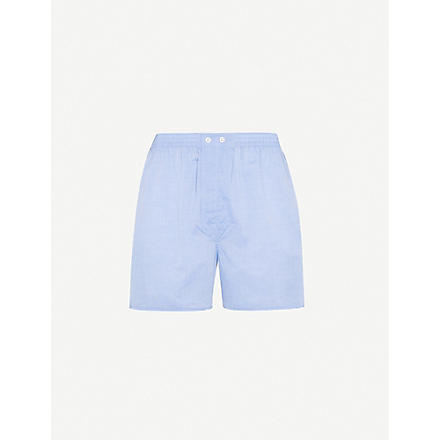 DEREK ROSE Amalfi Batiste woven boxer shorts (Blue
