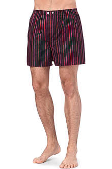 DEREK ROSE Dawn Classic striped woven boxer shorts