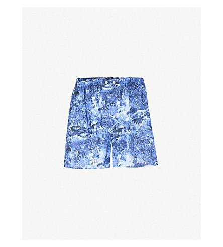 DEREK ROSE Ledbury classic-fit cotton boxers (Navy