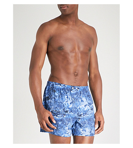DEREK ROSE Ledbury classic-fit cotton boxers (Navy
