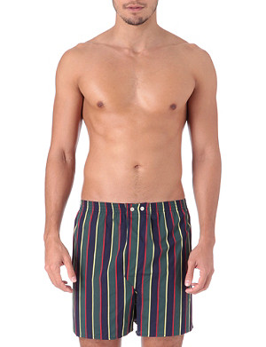 DEREK ROSE Regimental-stripe boxer shorts