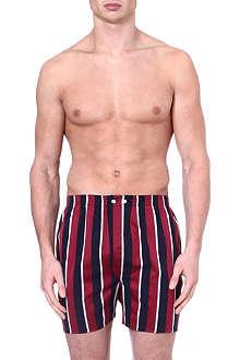 DEREK ROSE Regimental-stripe boxer shorts