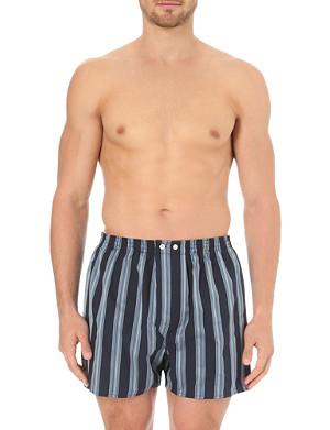 DEREK ROSE Striped classic cotton boxers