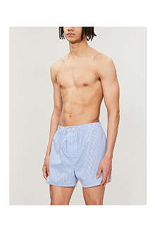 DEREK ROSE Gingham-checked boxer shorts