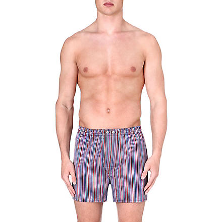 DEREK ROSE Stripe cotton boxer shorts (Multi