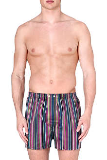 DEREK ROSE Stripe cotton boxer shorts