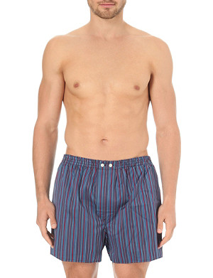 DEREK ROSE Bright striped classic cotton boxers