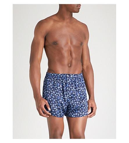 DEREK ROSE Brindisi 23 classic-fit silk boxers (Navy