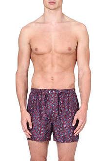 DEREK ROSE Otis paisley-print silk boxer shorts