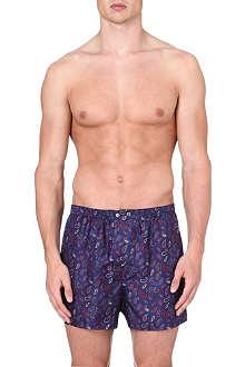 DEREK ROSE Paisley-print silk boxer shorts
