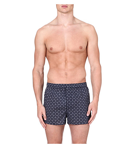 DEREK ROSE Arlo Rose Star boxer shorts (Navy