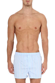 DEREK ROSE Stripe split-hem boxer shorts