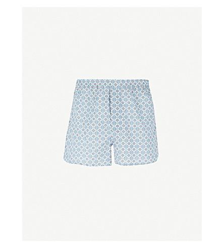 DEREK ROSE Ledbury modern-fit cotton boxers (Blu+orng