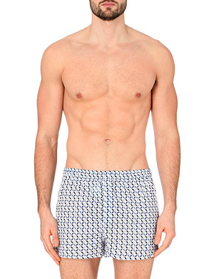 DEREK ROSE Tile-print cotton boxer shorts