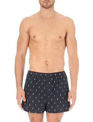 DEREK ROSE Seahorse-print cotton boxers