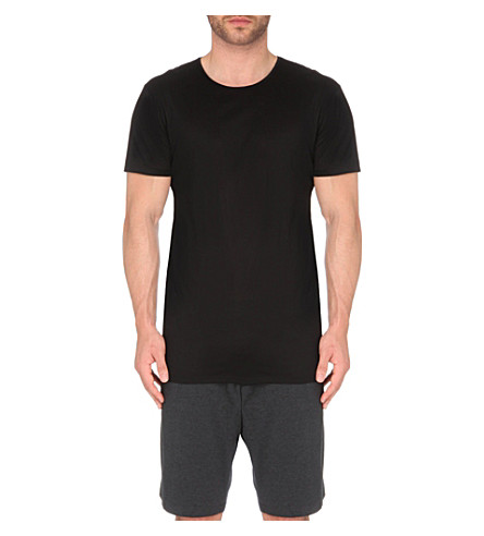 DEREK ROSE Lewis mercerised-cotton t-shirt (Black