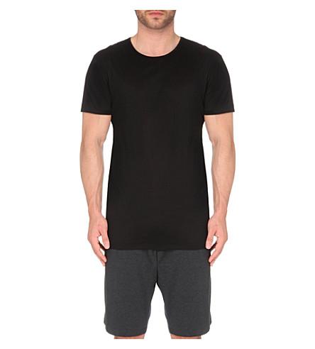 DEREK ROSE Lewis mercerised-cotton t-shirt (Black