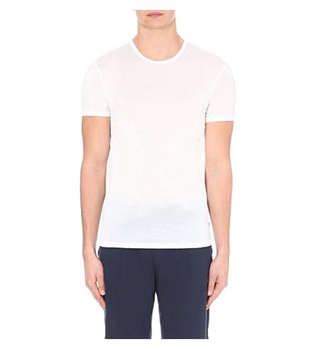 DEREK ROSE Lewis mercerised-cotton t-shirt (White