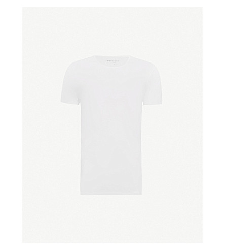 DEREK ROSE Crew-neck modal t-shirt (White